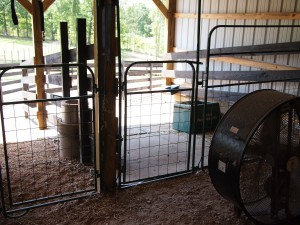 Stall fronts and automatic waterer